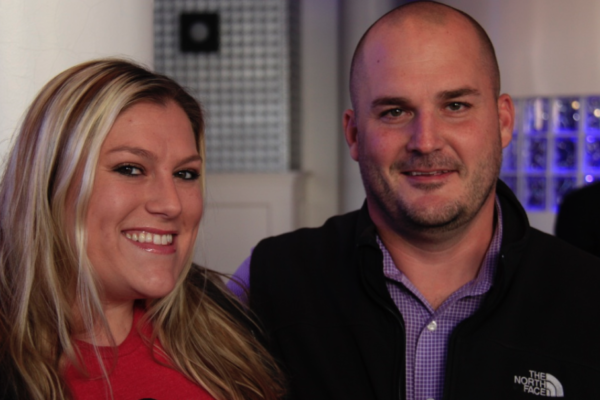 Lenexa Manager Suzanne Zarda and Osteria IL Centro Manager Brent Wittrock
