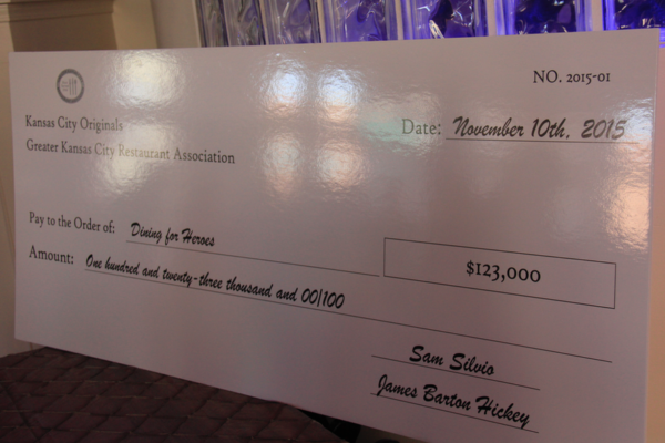 Dining for Heroes check presentation