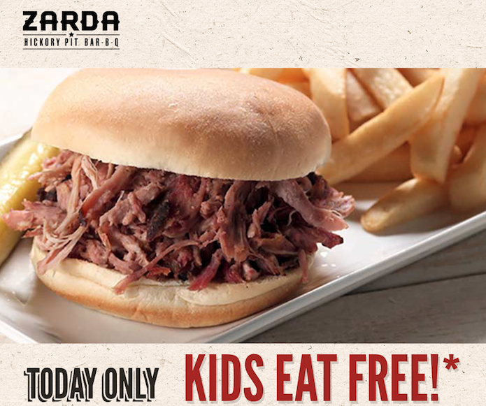 Kids Eat Free at Zarda – Today Only!