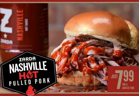 Zarda's Nashville Hot Pulled Pork Sandwich!