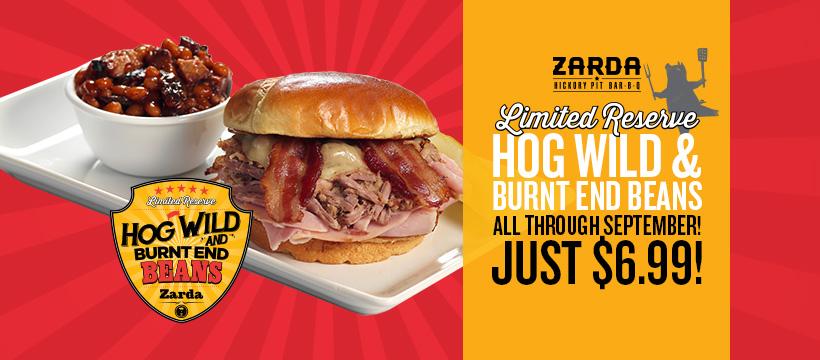 Hog Wild & Ltd. Burnt End Beans $6.99 All Sept.!